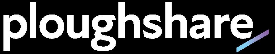 Ploughshare logo white