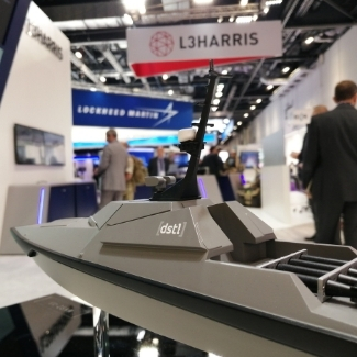 A model of MAST-13 on the L3Harris stand at DSEI 2021
